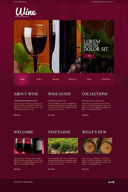 Template 49576 wine club wordpress theme best web templates template 49576 wine club wordpress theme pronofoot35fo Gallery