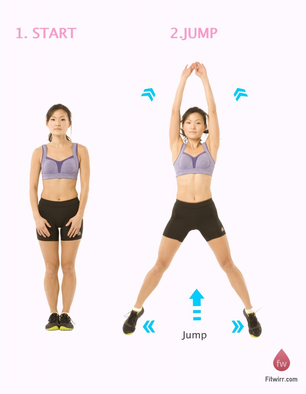 Jumping Jack | Anywhere, anytime cardio | Fitwirr.com ...