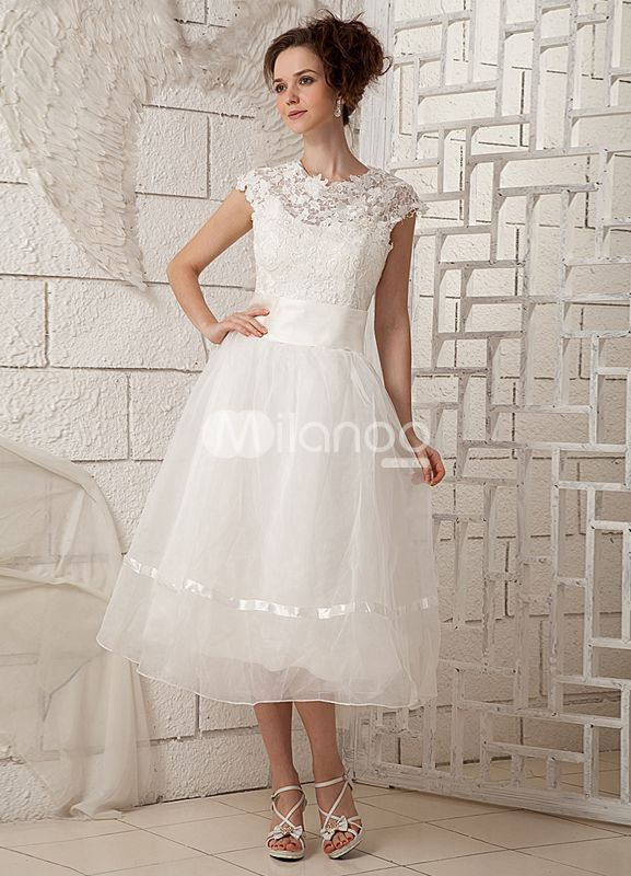 Wedding Dresses Cap Sleeves and Collar