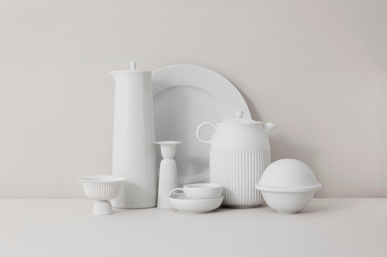 Different products from Lyngby Porcelæn #porcelænsfabrikkendanmark #monogram #original