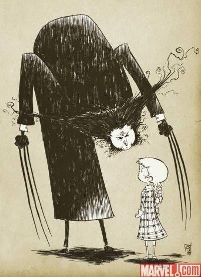 Wolverine like Edward Gorey #ScottieYoung