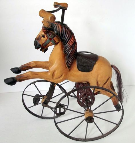Vintage Painted Wood Horse Tricycle - Picked: $7.50 SOLD: $99.99