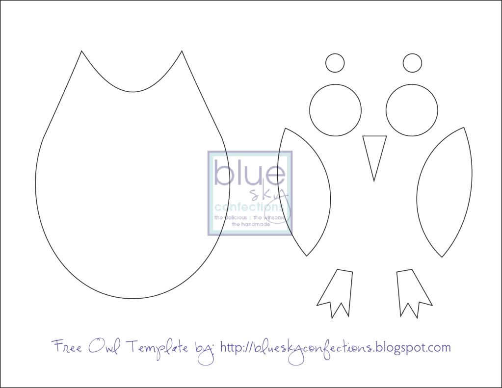 Owl Template printable. Just cut these out for the kids to put