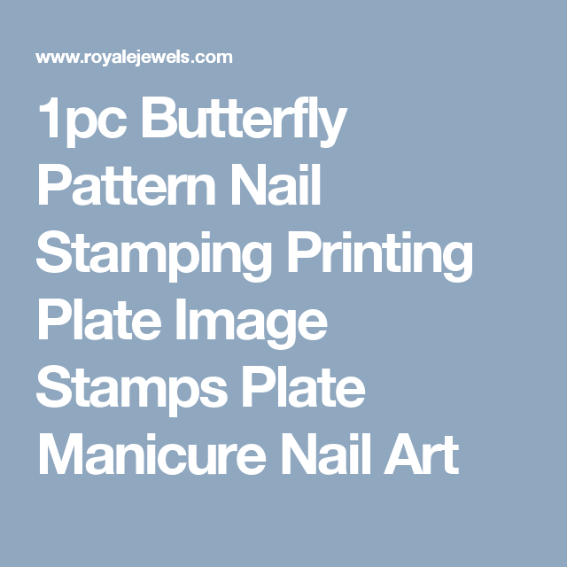 1pc Butterfly Pattern Nail Stamping Printing Plate Image Stamps Plate Manicure Nail Art