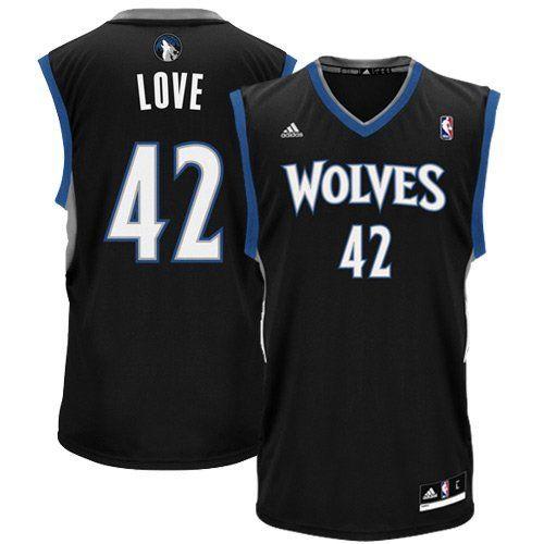 wholesale dealer 1ee9a 583ec Minnesota Timberwolves Kevin Love Black Alternate Adidas ...