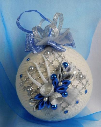 Bombka Sznurkowa Allegro Christmas Ornaments Homemade Shabby Chic Christmas Ornaments Diy Christmas Ornaments Easy