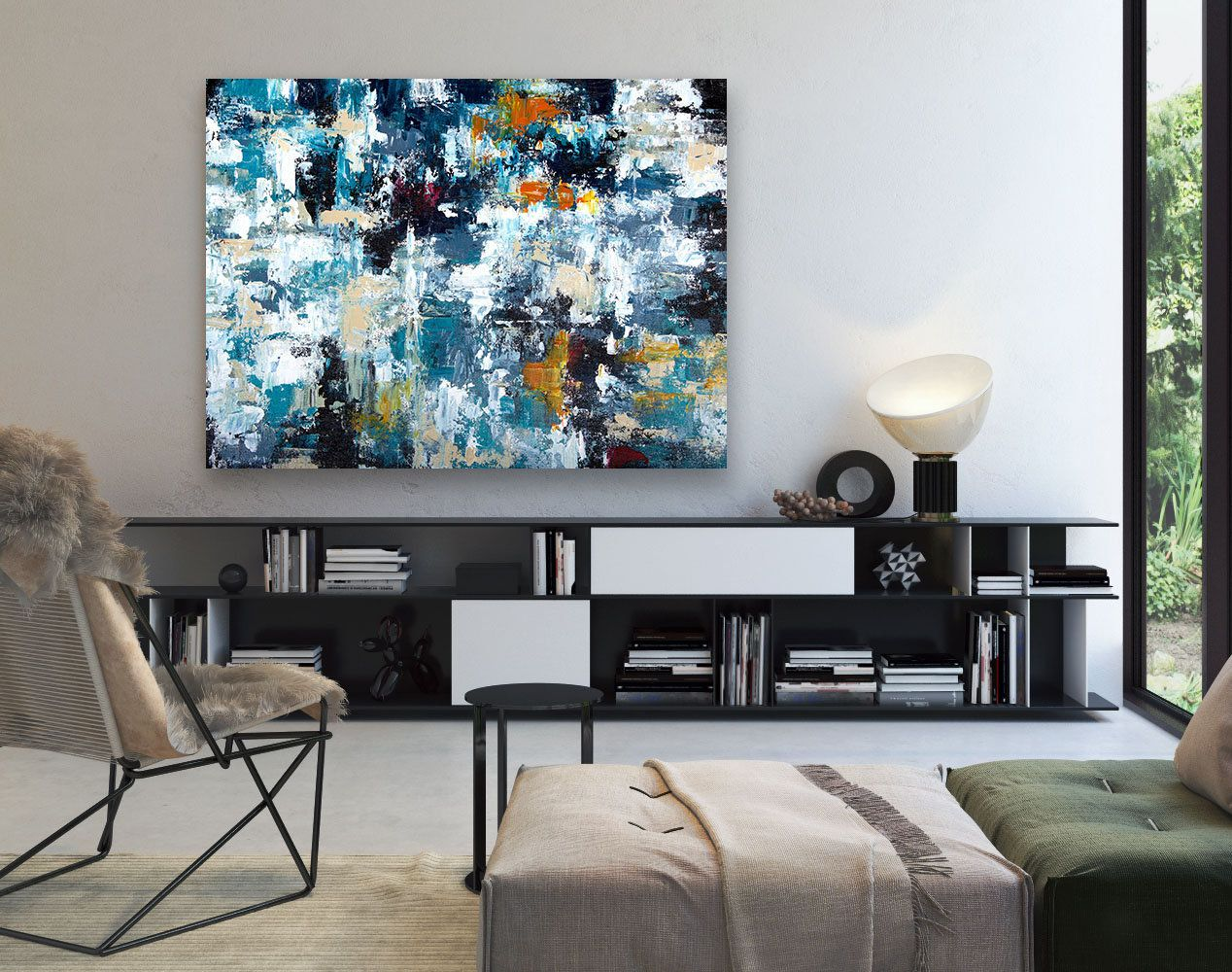 Large Abstract Painting,Modern abstract painting,acrylics ...
