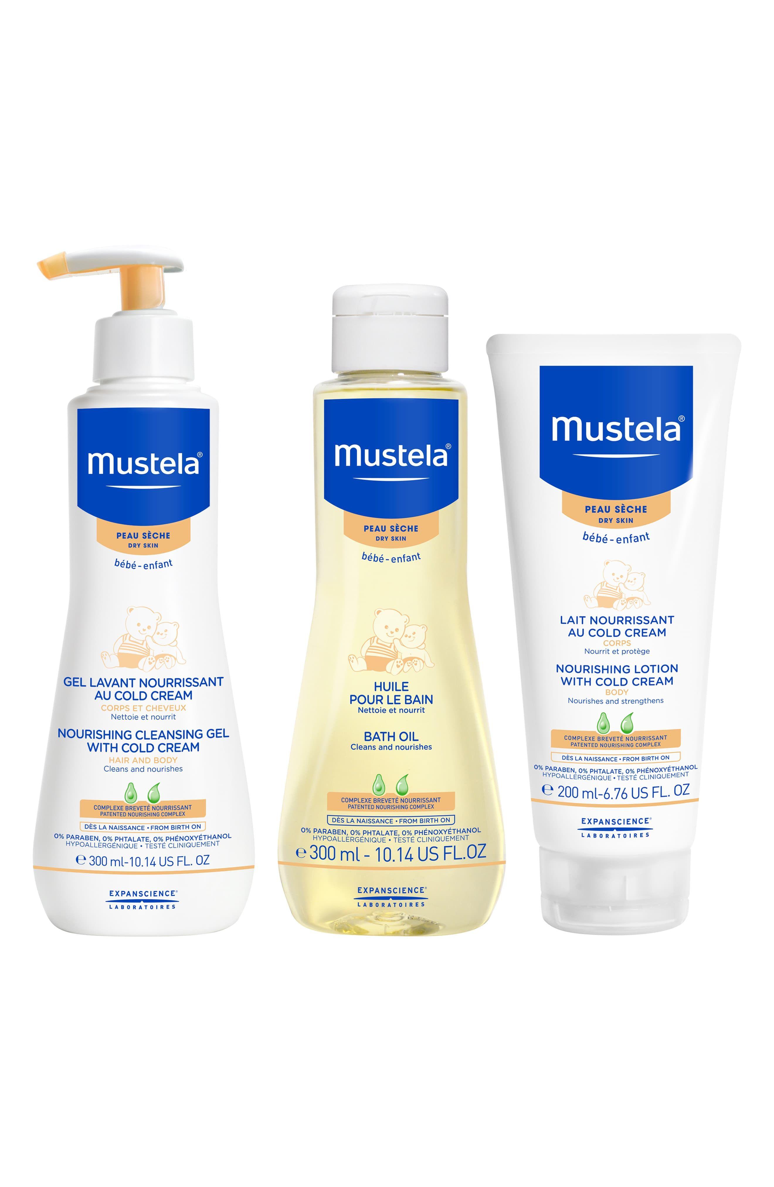 Mustela® Dry Skin Bath Time Set   Dry skin, Baby lotion ...