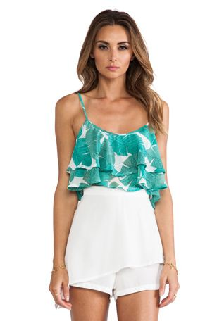 Show Me Your Mumu Lil Miss Crop Top in Beverly Palm