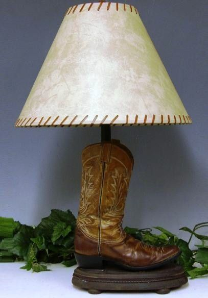 Western Outdoor And Casual Decor Lovers Must Have This Cowboy Boot Lamp Old Cowboy Boots Cowboy Boot Crafts Recycled Shoes