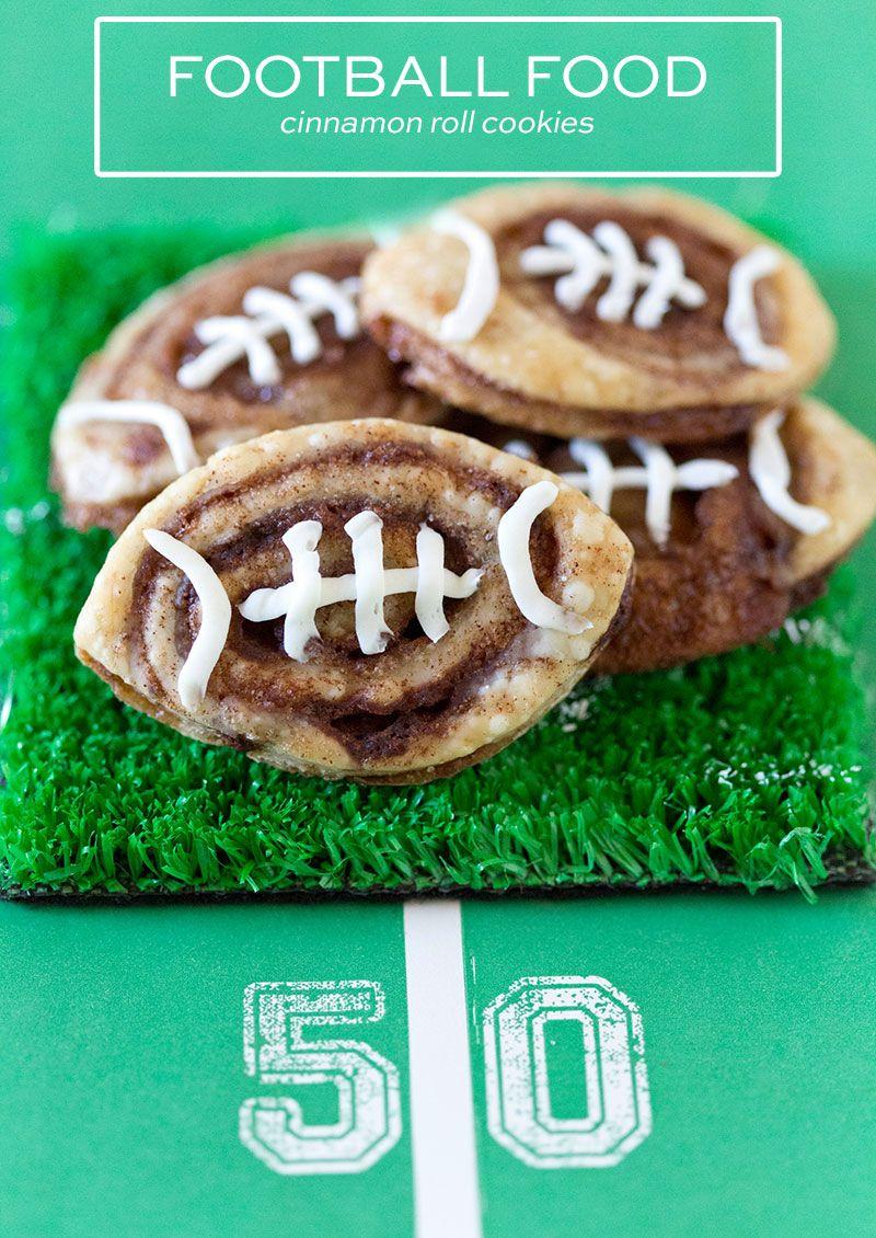 Week 15 Tailgating Desserts -Cinnamon Roll Cookies  http://livedan330.com/2015/12/17/week-15-tailgating-desserts/3/