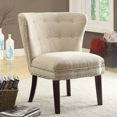 Coaster Chenille Accent Chair, Beige