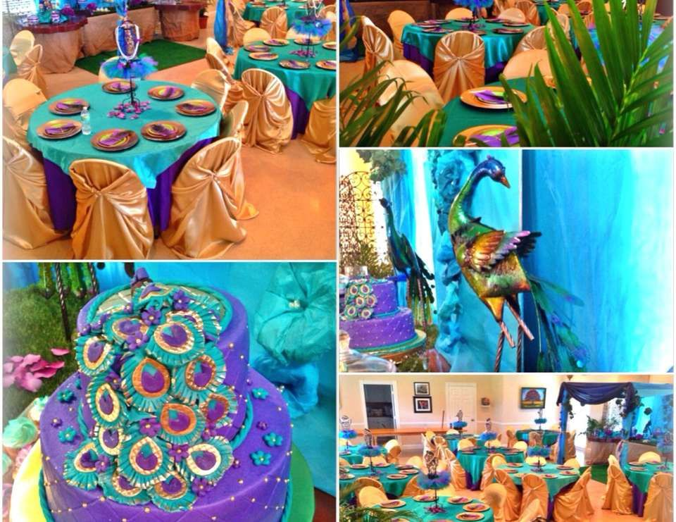 Peacock Themed Decoration Ideas Part - 31: Peacock Inspired Baby Shower