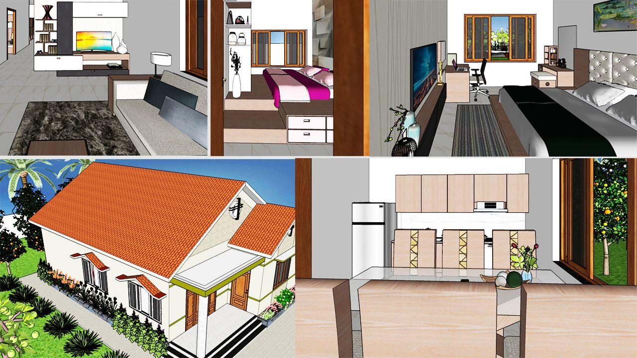 Interior Design Plan 10x14m Walk Through With Full Plan 3 Beds Interior Design Plan Country House Design Apartment Interior Design