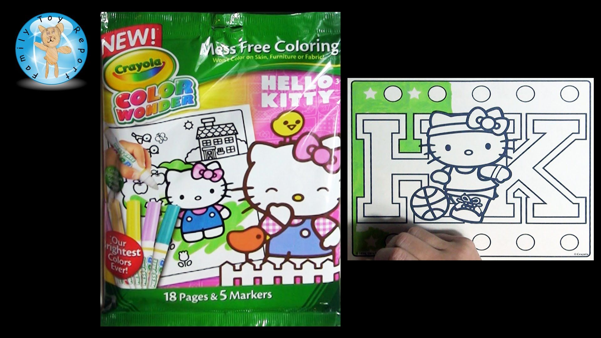 Crayola color wonder hello kitty coloring book basketball player family toy report crayola colorwonder coloringbook coloring hellokitty basketball