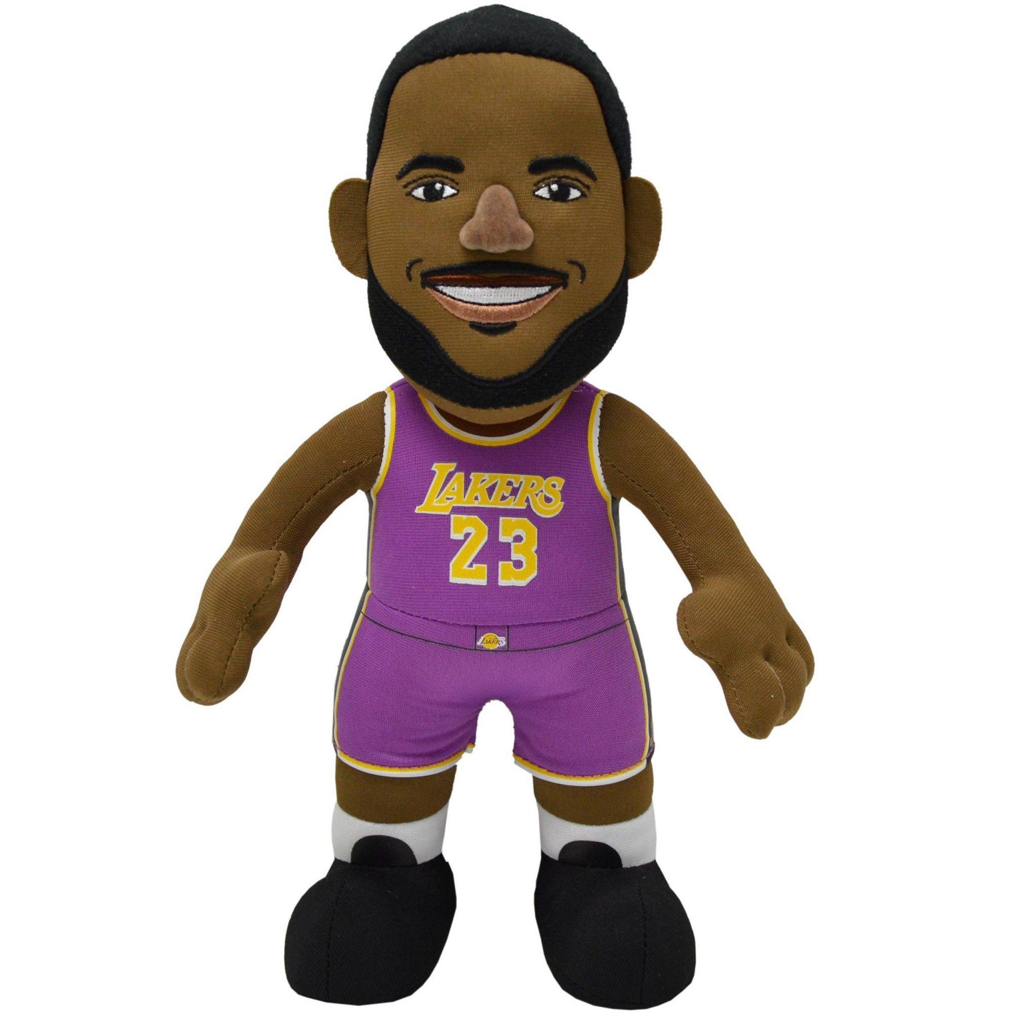 Nba Los Angeles Lakers Bleacher Creatures Purple Lebron James Plush Figure 10 In 2020 Los Angeles Lakers Lebron James Nba Los Angeles
