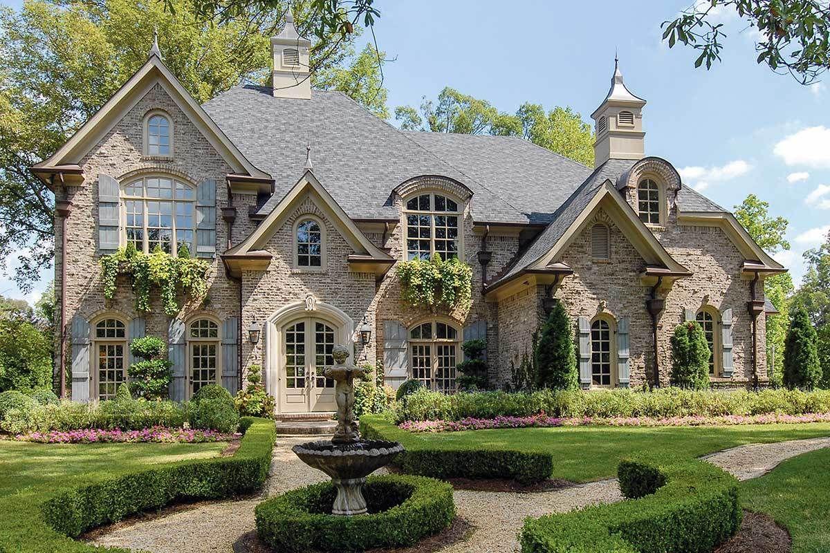 Plan 15612ge Master Up Luxury House Plan In 2021 Luxury House Plans European House European House Plans