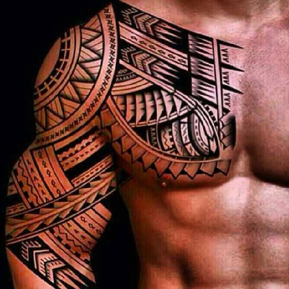 48 Coolest Polynesian Tattoo Designs Polynesian Tattoo Designs Tribal Chest Tattoos Tribal Tattoos For Men
