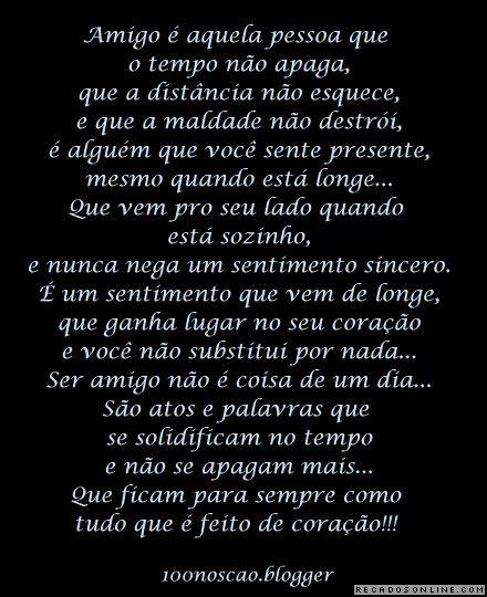 Amigos Para Sempre Bing Imagens Poemas De Amizade