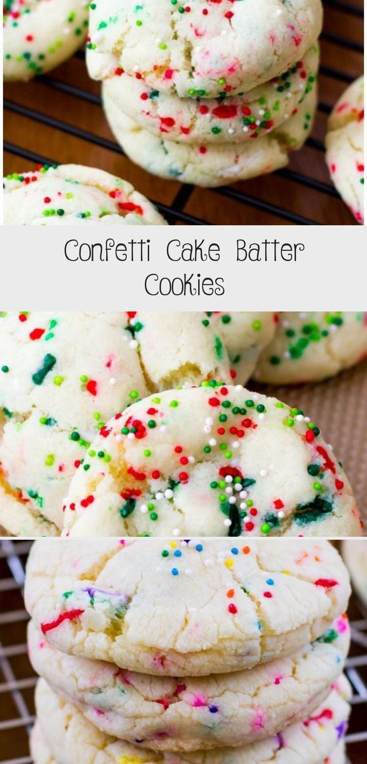 Confetti Cake Batter Cookies in 2020 Confetti cake, Cake