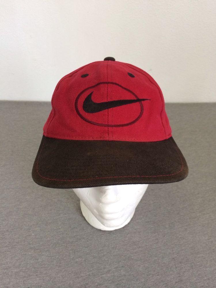 NIKE Hat Vintage 90 s Snap Back Adjustable Denim Khaki Soft  Nike   BaseballCap 6799cf5fb87e