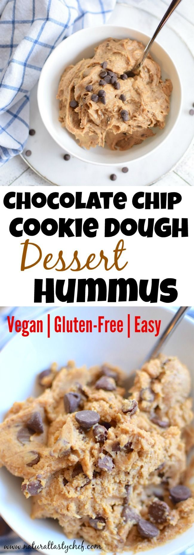Chocolate Chip Cookie Dough Hummus | Natural Tasty Chef