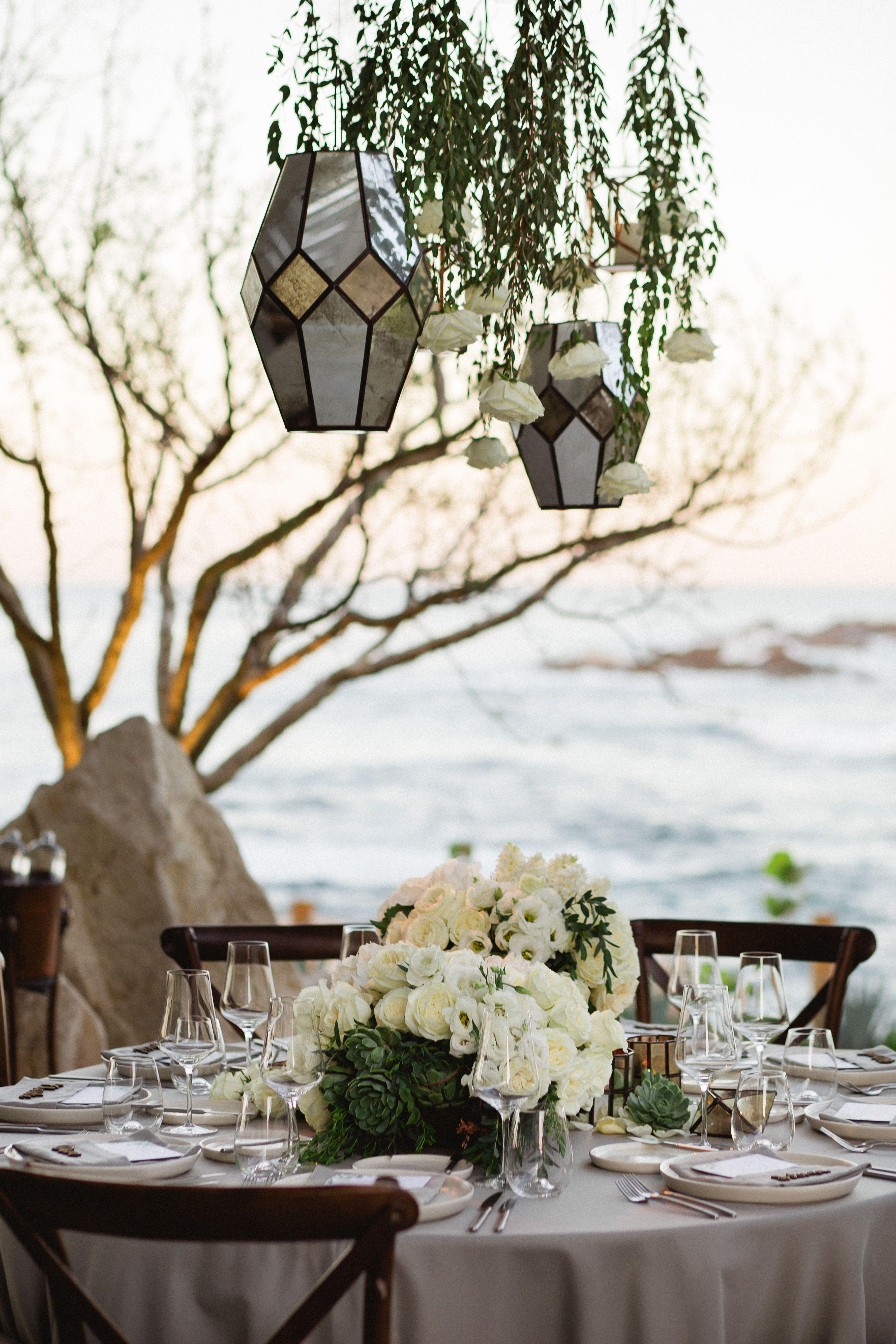 Trendy wedding decor with geometrical hanging lanterns for Melissa ...