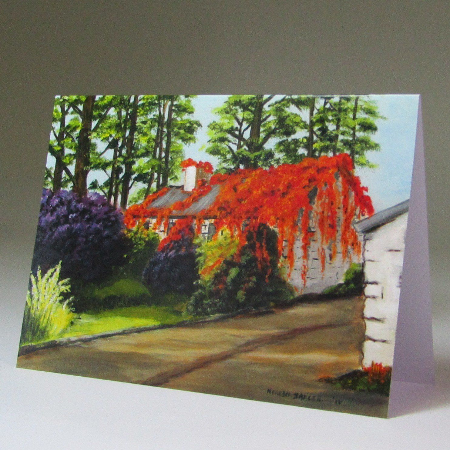 Art Card, 'Autumn in Kilbree by, Noreen Sadler, Co. Mayo.