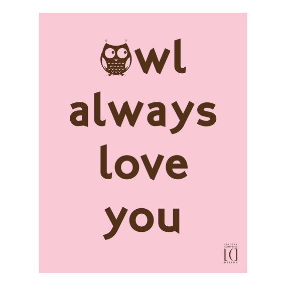 8X10 Resume Paper Prepossessing 8X10 Owl Always Love You Poster Digital Pinklindseycdesign .