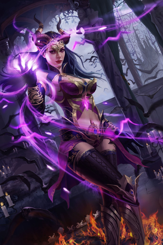 Artstation 321321 Wiliam Zhou Dark Fantasy Art Beautiful Fantasy Art Fantasy Art