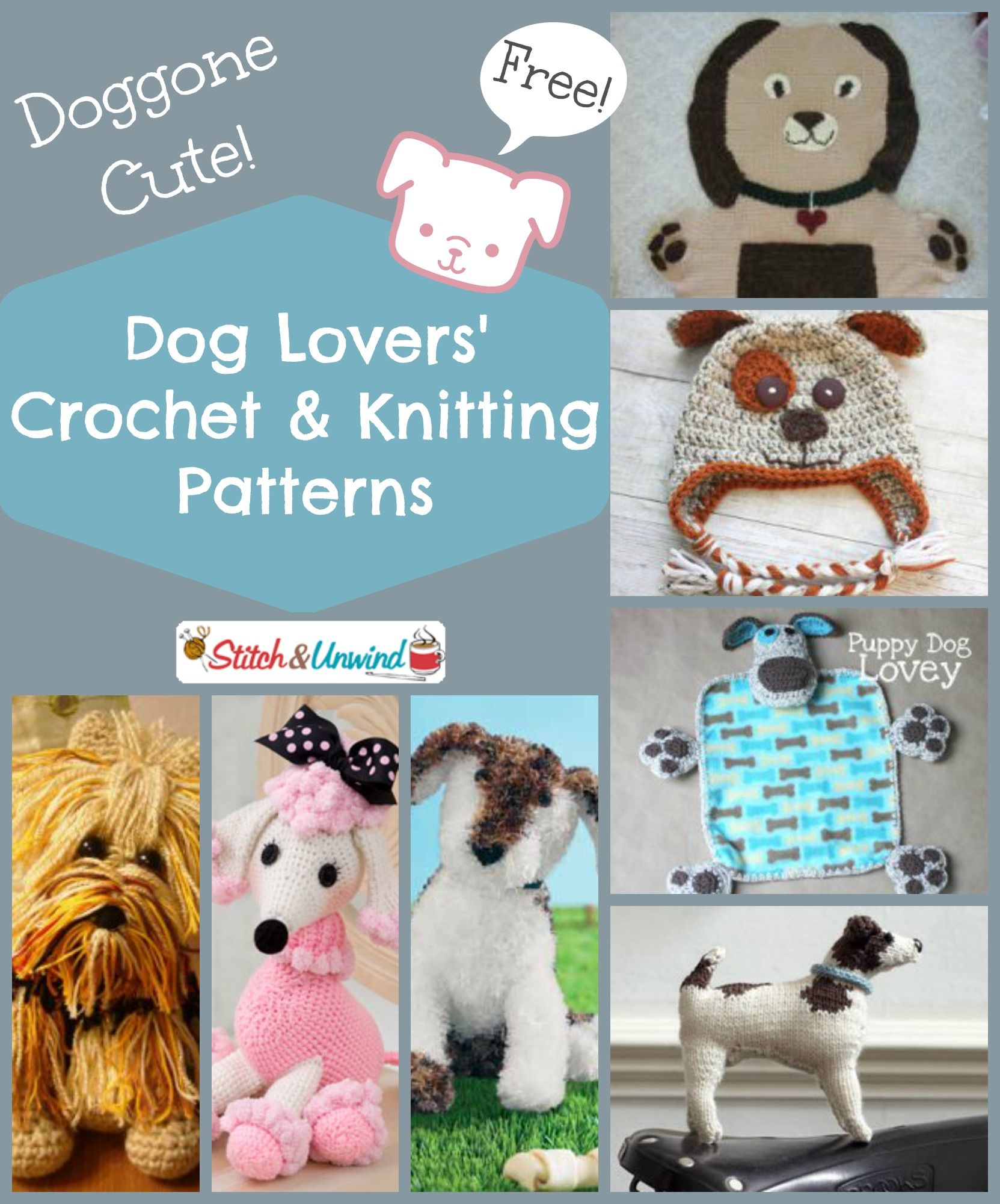 5b6caa698 Doggone Cute! Dog Lovers  Crochet and Knitting Pattern Round-Up ...