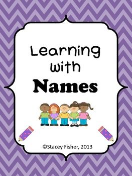 Learning with Names-Activities for spelling, beginning sou