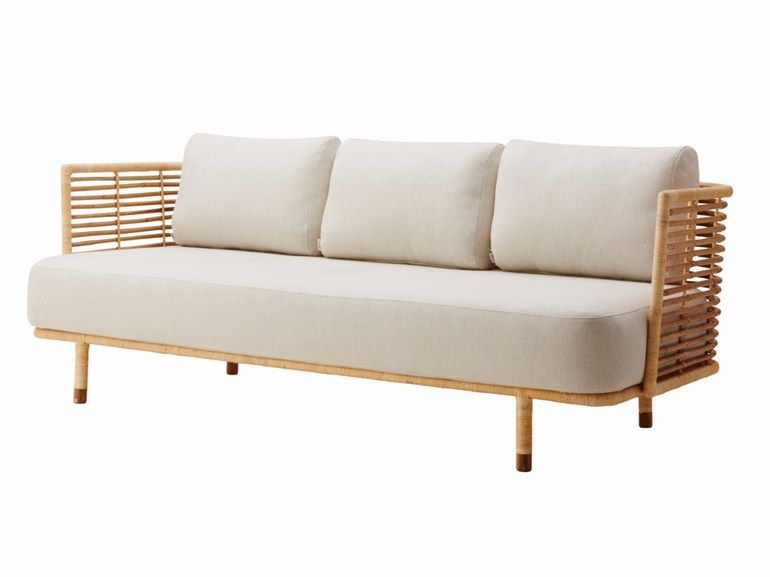 3 Seater Rattan Sofa Sense By Cane Line Design Foersom Hiort Lorenzen Spacious Sofa Modern Outdoor Furniture Rattan Sofa