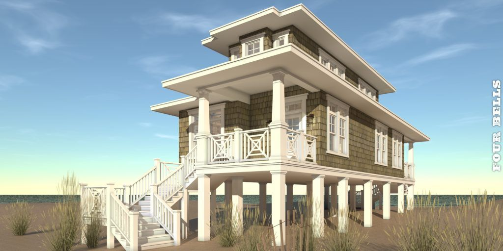 Tiny Lighthouse Plan With Spiral Stair Tyree House Plans Beach Style House Plans Beachfront House Craftsman Style House Plans
