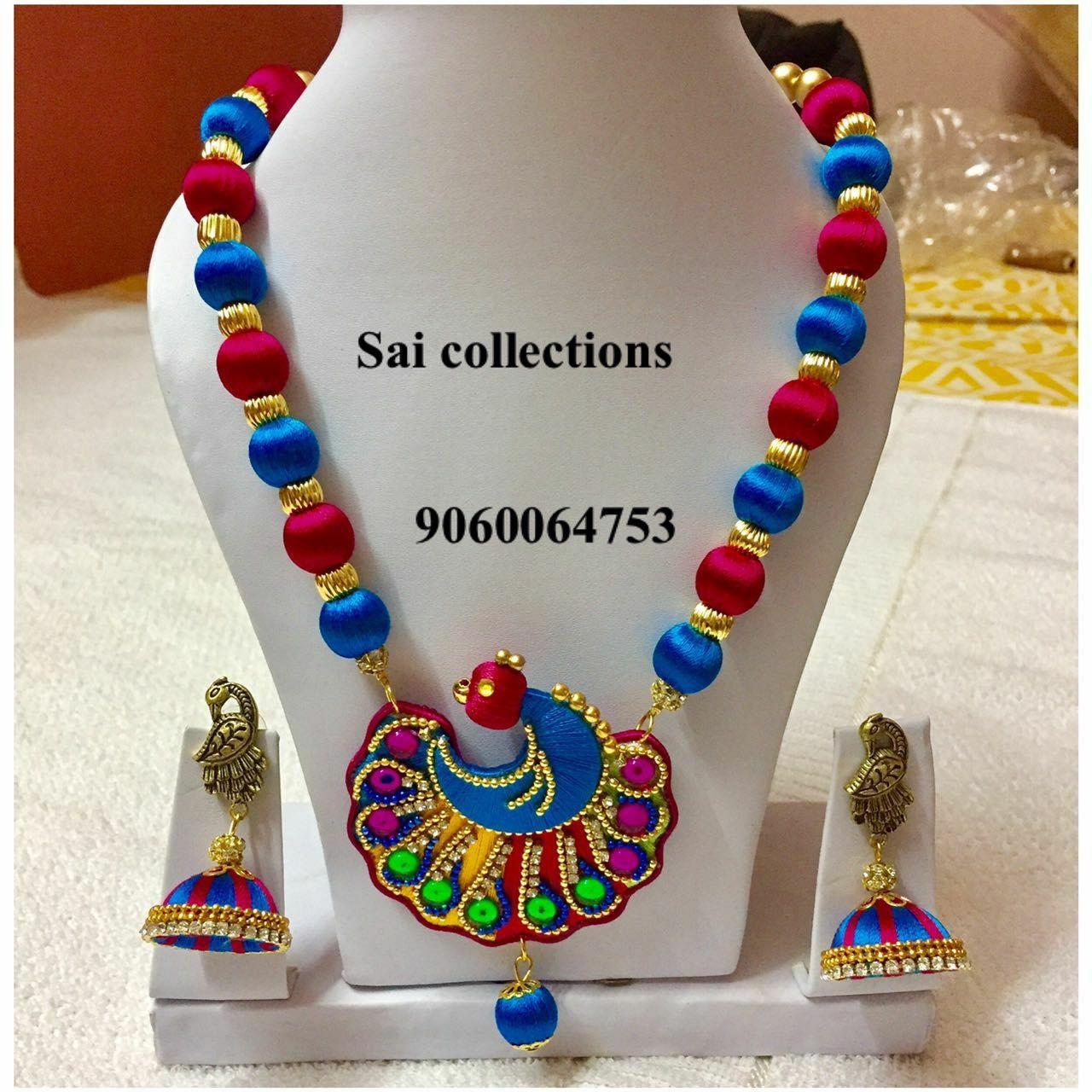 Pin by mythili sampath on silk thread jewellery pinterest silk