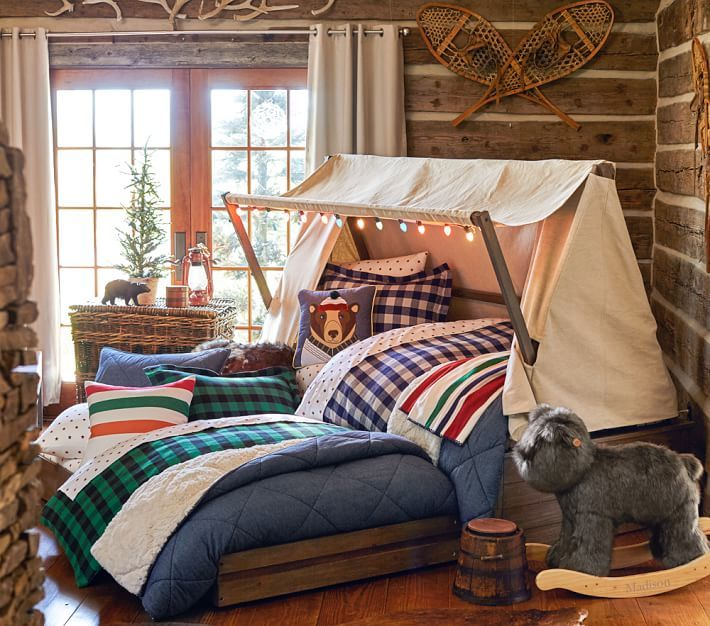 Kids Cabin Theme Bedrooms Rustic Decor For The Little Ones