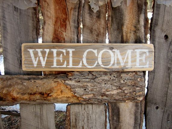 Welcome Sign Rustic Welcome Sign Distressed Welcome Sign Made In Montana Reclaimed Wood Recycled Wood Farmhous Rustic Front Porch Front Porch Signs Porch Signs