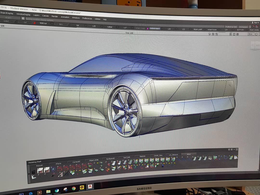 My Concept Car Modeling In Alias Modeling Alias Sketching Car Cardesign Cardesigner Auto Automotive Autodesign Design