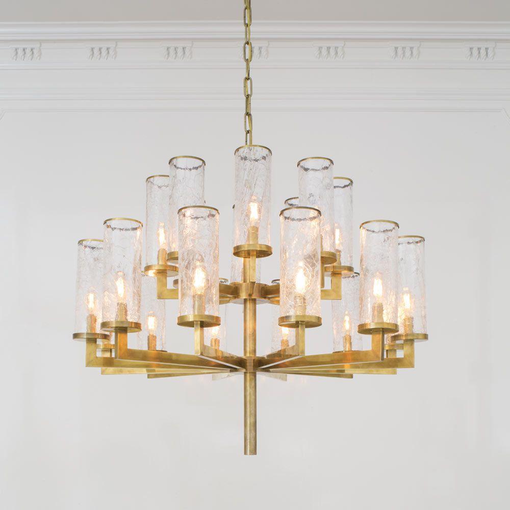 Liaison triple tier chandelier brass kelly wearstler crackle liaison triple tier chandelier by kelly wearstler arubaitofo Images