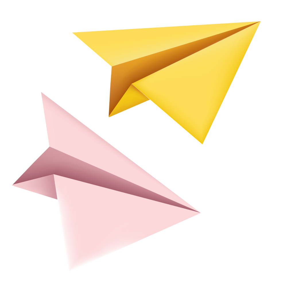 Yellow Paper Plane Png Image Paper Plane Yellow Paper Paper Dart