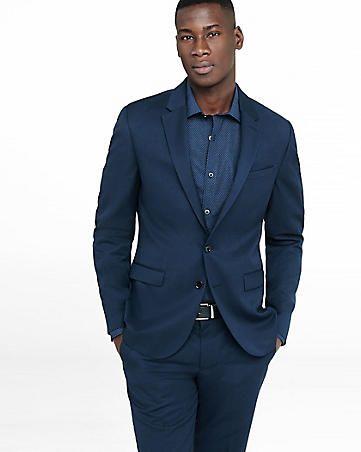skinny innovator navy wool blend twill suit jacket   beyond now ...