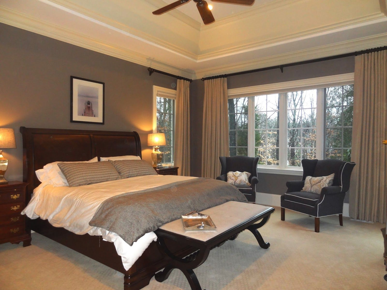 Interesting Window Treatment Modern Master Bedroom Green Master Bedroom White Master Bedroom