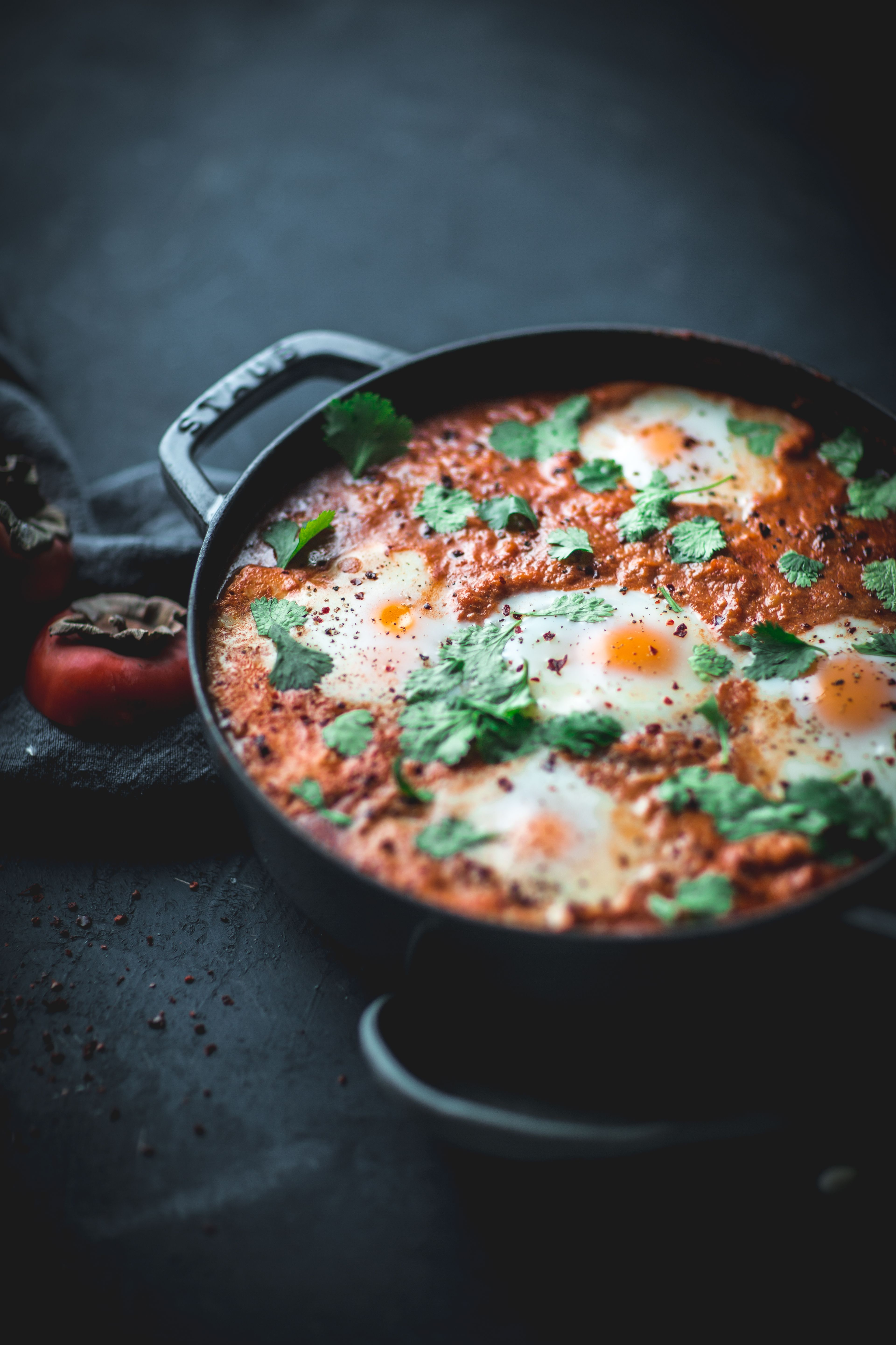 Shakshuka with Persimmons  #recipes #food #foodie #healthyfood #foodporn #yummy #instafood #cooking...