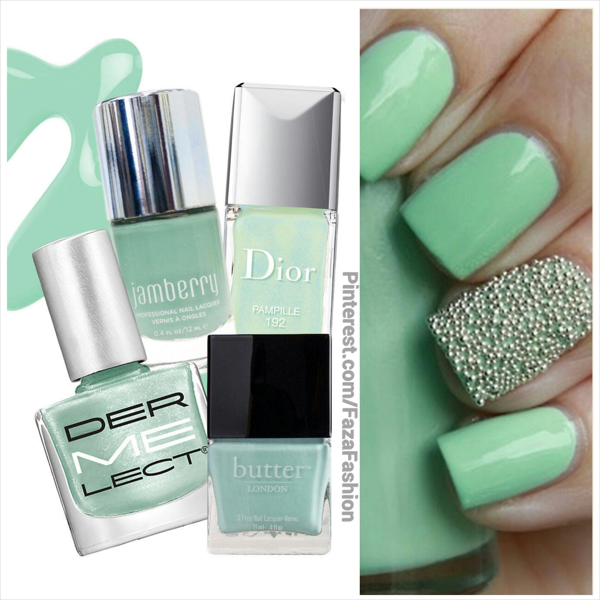 Spring/Summer 2014 #Nails Trends : Mint Green موضة ربيع صيف 2014 ...