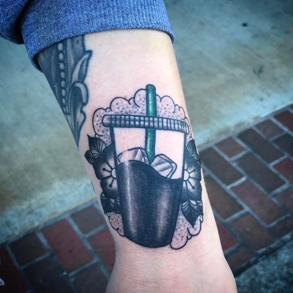 2d6a83bc3 Iced Coffee Tattoo | Tattoos | Coffee tattoos, Donut tattoo, Body ...