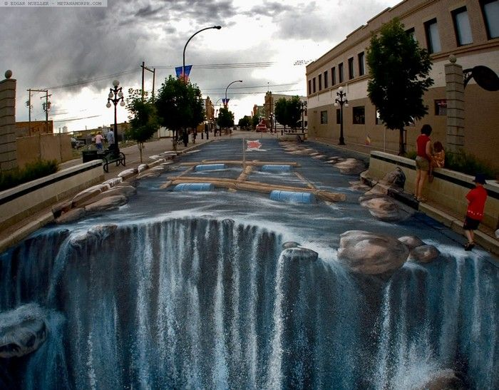 10 Unbelievable 3D Street Artworks  I dare you to cross the thin line between reality and 3D Street Art!