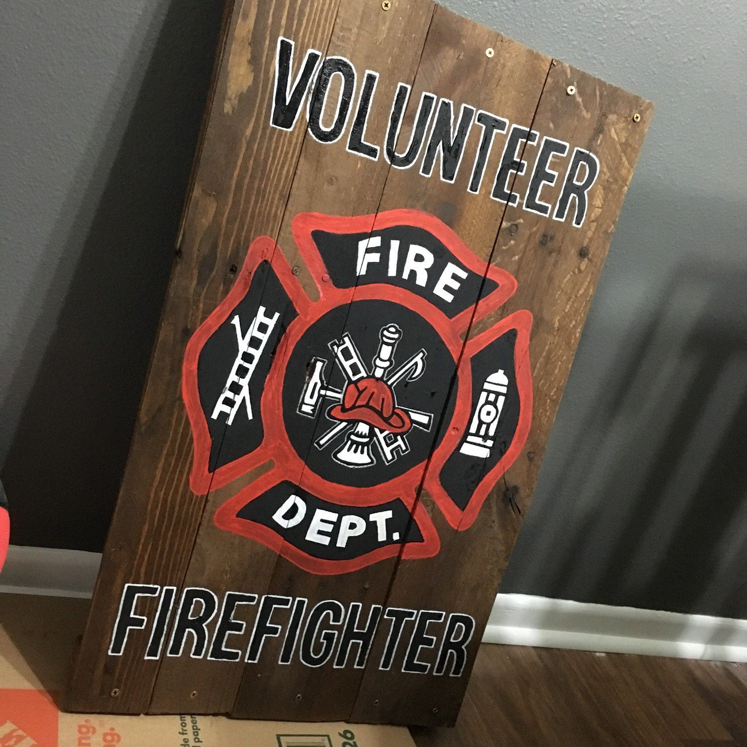 Being a firefighter takes bravery, courage and selflessness. I'm grateful to have a few volunteer firefighters in my family and love making gifts for others.