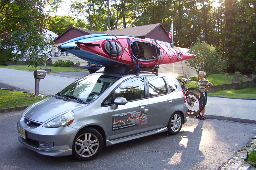 Shuttle Sag Wagon Living Adventure Tours Honda Fit Adventure Car Climbing Gear