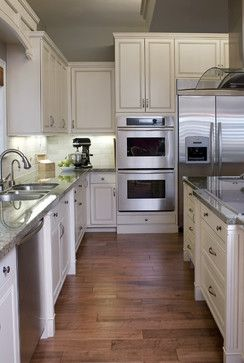 Stacked Oven In Kitchen Corner Design Ideas Fridge And Stove Next