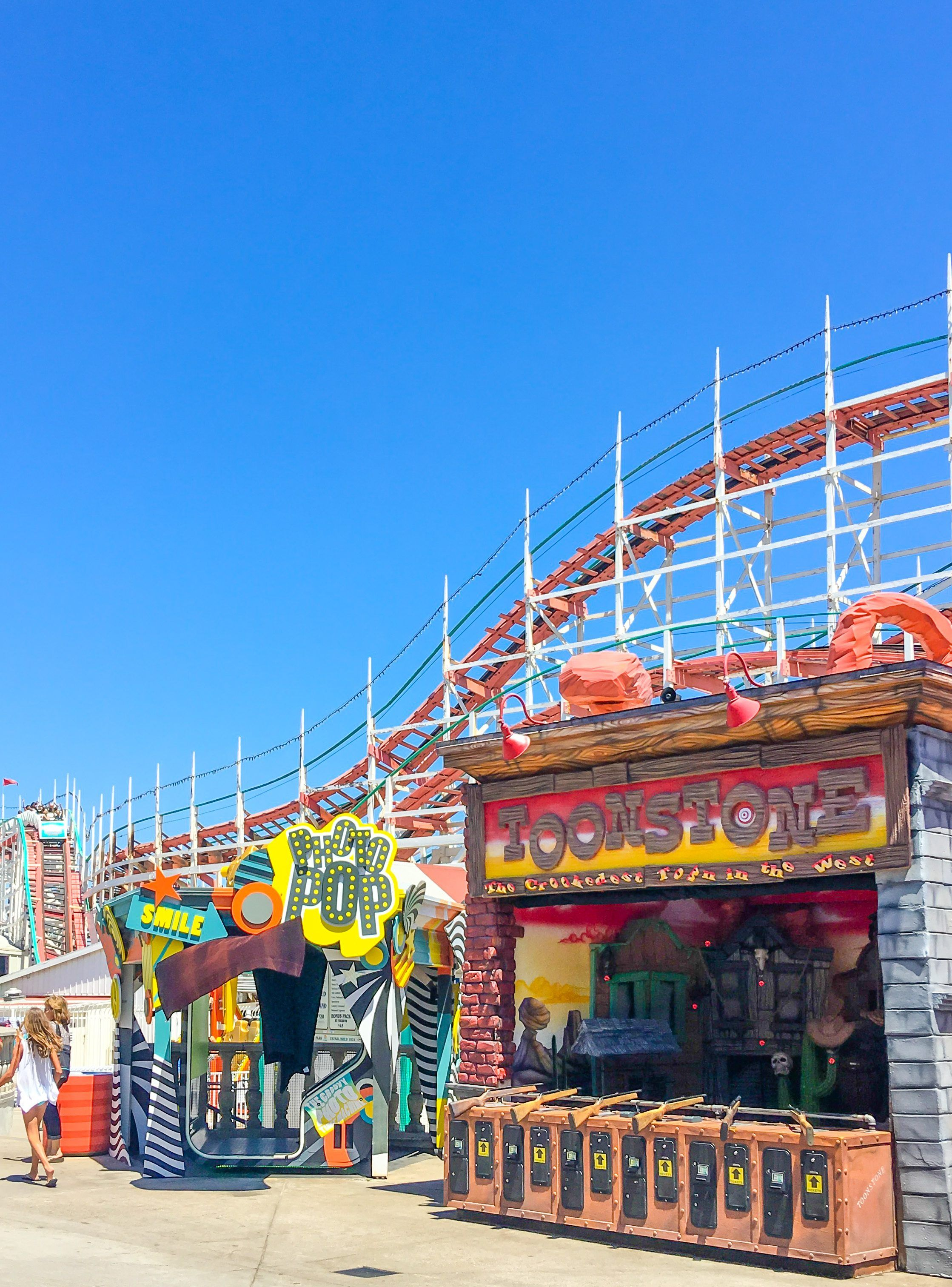 Belmont Park is a fun seaside amusement park for kids located in San Diego on Mission Beach.